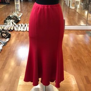 Women's casual skirt, red